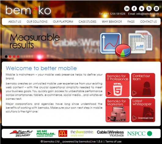 Bemoko Mobile and Web Site