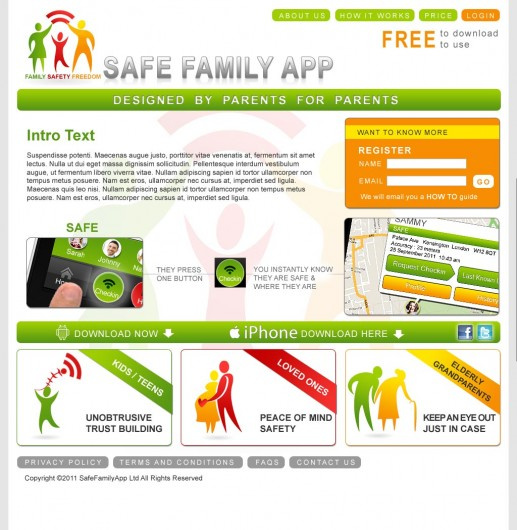 Safe Family iPhone App