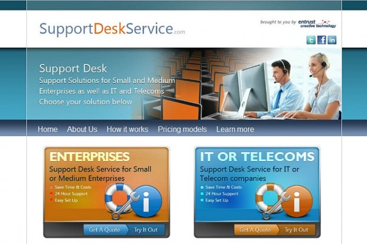 support desk service site