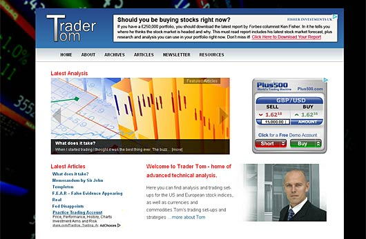 Trader Tom - Trading articles and daily market analysis